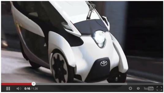 auto toyota i-road elektrická tříkolka elektromotorka video