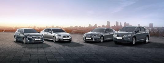 auto hybridní vozy Lexus rodina Toyota