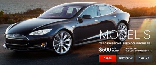 auto nákup elektromobilu Tesla Model S USA leasing