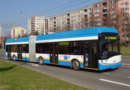auto trolejbus dopravní podnik Ostrava MHD