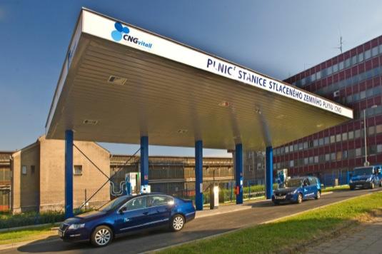 auto plnící stanice zemního plynu CNG Vitall