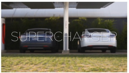 auto Tesla Motors síť dobíjecích stanic pro elektromobily zdarma