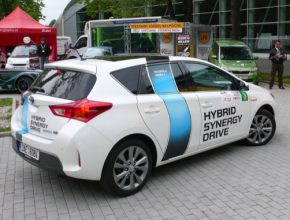 auto Toyota Auris Hybrid New Energies Rallye Český Krumlov