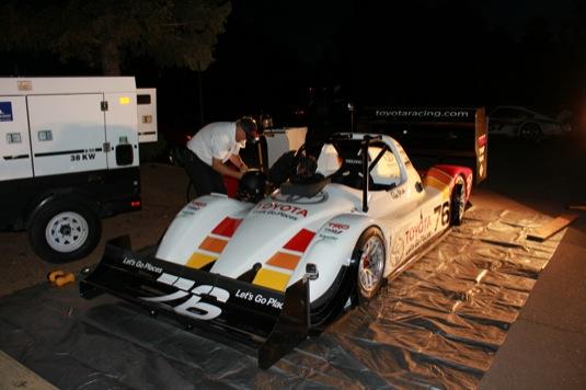 auto Toyota závodní elektromobil Pikes Peak Test