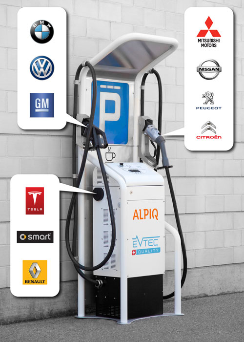 auto rychlonabijecí stanice Alpiq E-mobility 3-in-1