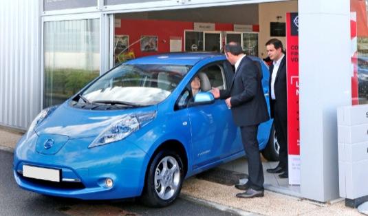 auto Nissan Leaf nová generace prodej Evropa 10 000