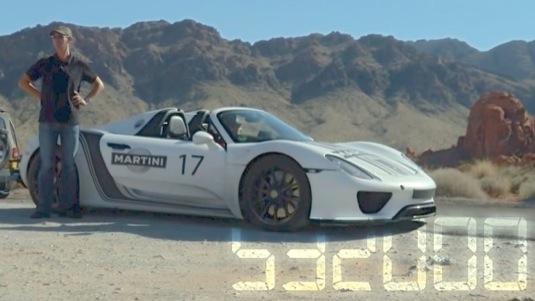 auto plug-in hybrid Porsche 918 Spyder prototyp Nevada poušť