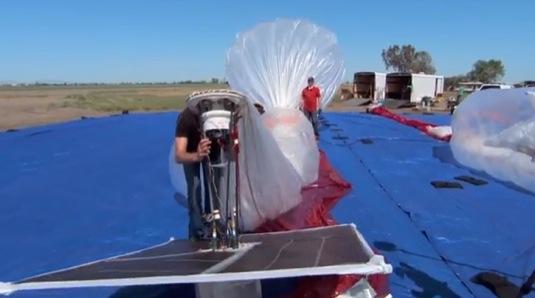 auto Project Loon Google solarni balony internet pro svět
