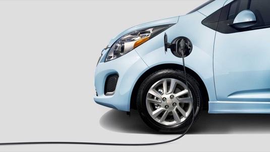 auto rychlodobíjení elektromobilu Chevrolet Spark EV
