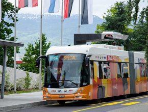 elektrické autobusy TOSA v Ženevě