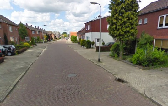 auto ulice Castorweg Hengelo Nizozemsko