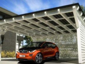 auto elektromobil BMW i3 dobíjení solární dobíjecí stanice