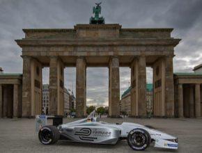 auto elektromobilita Formule E Berlín Braniborská brána Německo