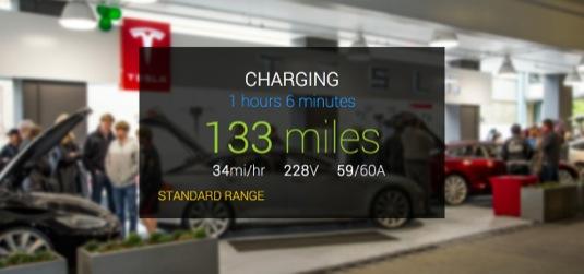 GlassTesla Google Glass Tesla Model S elektromobil