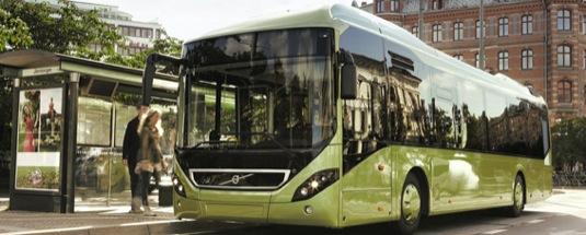 auto hybridní autobus Volvo 7900