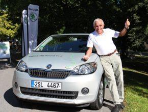 auto Škoda Citigo CNG Tour Gerhard Plattner zemní plyn Itálie Švédsko