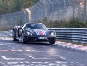 auto Porsche 918 Spyder plug-in hybrid Nurburgring