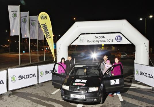 auto Škoda Fabia Economy Run 2013 vítěz