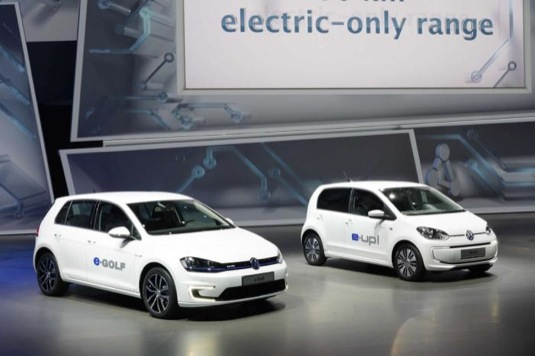 auto Volkswagen e-Golf e-Up autosalon Frankfurt 2013