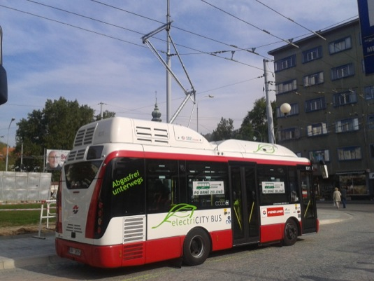 auto elektrobus Rampini Brno
