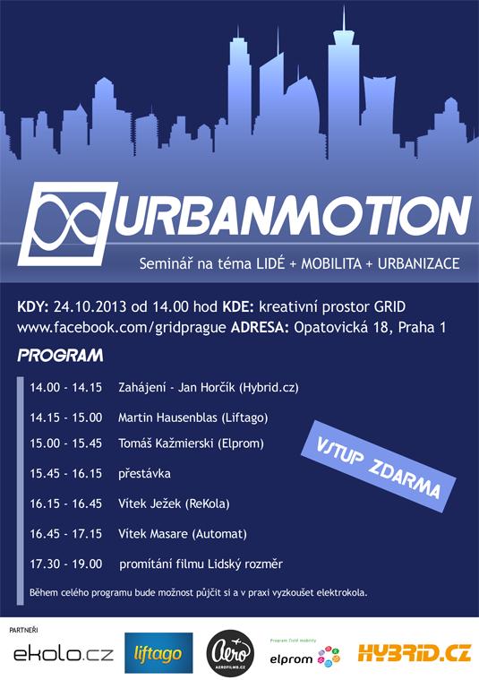 auto Urbanmotion seminář logo