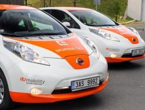 elektromobily Nissan Leaf ve flotile ČEZ
