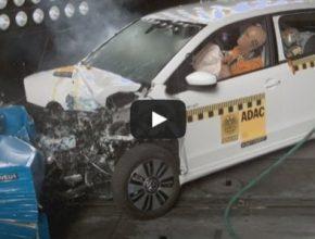 auto ADAC crash-test elektromobil Volkswagen e-Up!