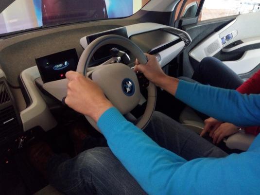 elektromobil BMW i3 v Praze