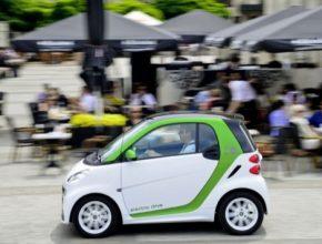 auto elektromobil Smart ED Electric Drive v Číně