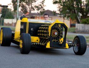 auto Super Awesome Micro Project auto na vzduch z LEGA