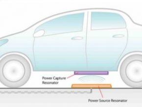 auto Toyota Witricity bezdrátové dobíjení