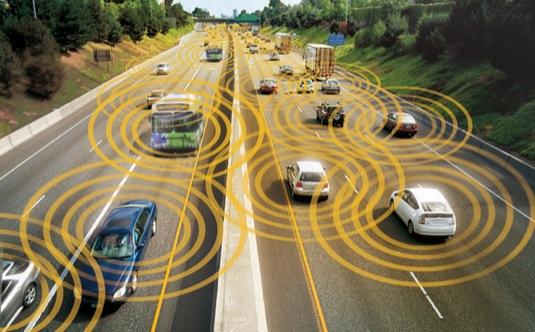 auto komunikace mezi auty podle představy amerického ministerstva dopravy