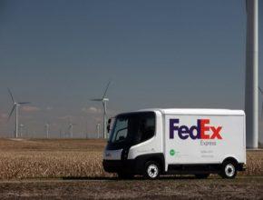 auto elektrická dodávka FedEx truck Modec design Navistar