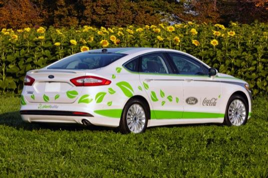auto Ford Fusion Energi plug-in hybrid Coca-Cola