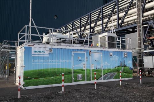 auto Siemens čistá výroba vodíku
