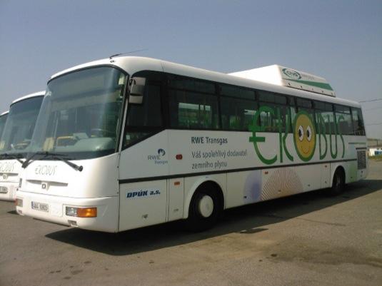 auto ekobus autobus na stlačený zemní plyn CNG