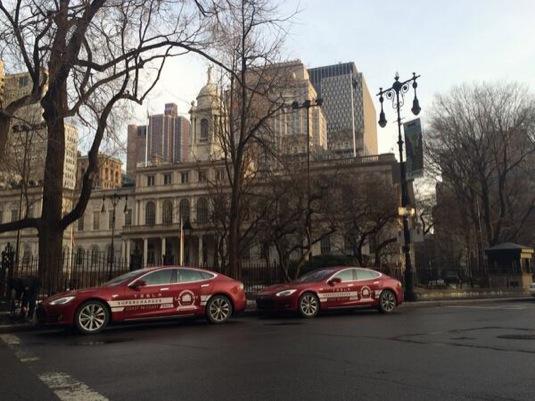 auto Tesla Model S elektromobily Coast to Coast rallye