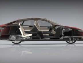 auto Tesla Model S řez elektromobilem