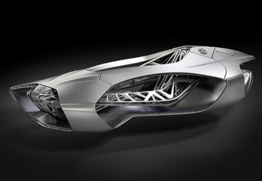 auto autosalon Ženeva 2014 EDAG Genesis 3D tisk aditivní výroba