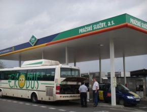 auto CNG autobusy Praha Pražské služby