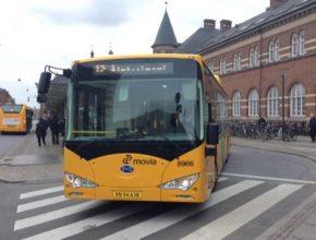 auto elektrobusy BYD Kodaň Dánsko