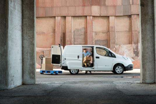 auto elektromobil elektrická dodávka Nissan e-NV200
