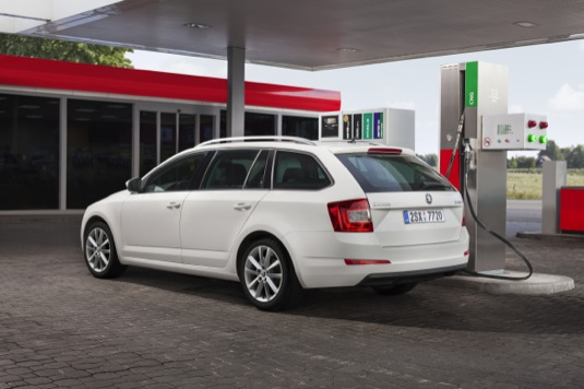 auto Škoda Octavia s pohonem na CNG stlačený zemní plyn