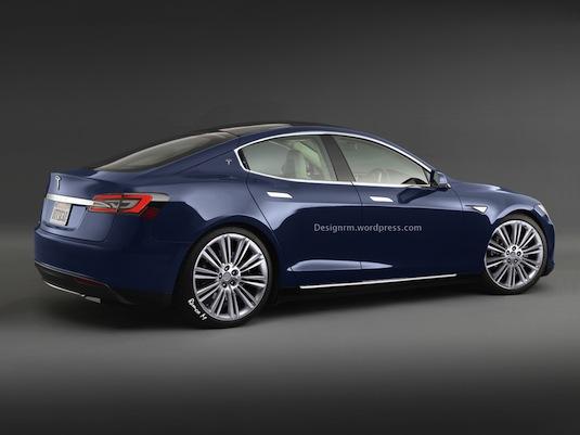 auto Tesla Model E Remco Meulendijk
