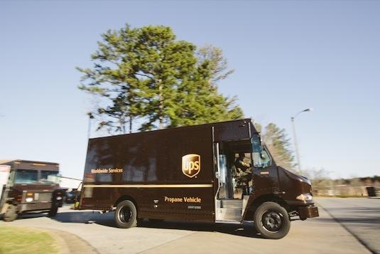 auto UPS dodávky spedice auta na plyn LPG