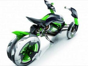 auto koncept elektromotorky Kawasaki J