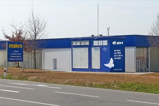 CNG stanice E.ON ve Zlíně