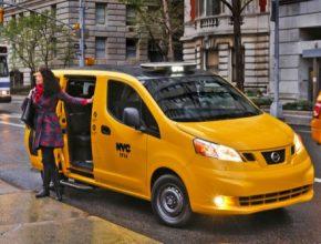 auto New York dodávka taxi Nissan e-NV200