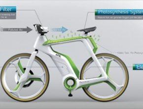 auto jízdní kolo, které čistí vzduch