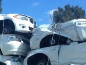auto elektromobily BMW ActiveE sešrotovány